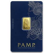 2.5 gram Gold Bar - Pamp Suisse Lady Fortuna Veriscan (In Assay) - SKU #82248