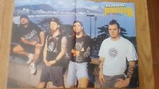 PANTERA / DIMEBAG 2-sided Centerfold magazine POSTER  17x11 inches