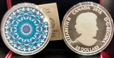 Polar Bear Kaleidoscope Canadiana $20 2016 1OZ Pure Silver Proof Coin Canada.