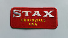NORTHERN SOUL MUSIC SEW ON / IRON ON PATCH:- STAX RED (b) SOULSVILLE USA
