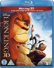 THE LION KING 3D + 2D BLU-RAY DISC REGION-FREE BRAND NEW SEALED CLASSIC DISNEY