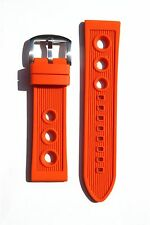 22MM RUBBER DIVER WATCH BAND STRAP FOR BREITLING SUPEROCEAN PORTHOLE