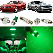 4x Green LED lights interior package kit for 2010-2017 Chevy Camaro CC4G