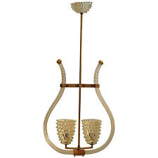 Murano Rostrato Ceilling Light by Barovier & toso lamp 50 italian lampe