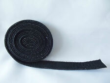 2m x 20mm BLACK ULTRA GRIP Double Sided Hook & Loop Tape Cable Ties