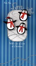 For You Son  Penguins  Luxury 3D Christmas Card Xmas Cards Special Relations