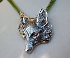Cavalli Del Mar Exquisite Sterling Silver Large Fox Hunting Necklace Pendant