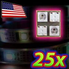[25x] WS2812B Digital Serial RGB 5mm LED SMD5050 Full Color - Arduino Compatible