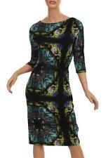 NEW ETRO MILANO LADIES  LUXURY STRETCH WOOL PAISLEY PRINT DRESS W/BELT  42/8