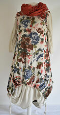 FAB SARAH SANTOS  cotton/linen parachute dress & long floral dress set size L/XL