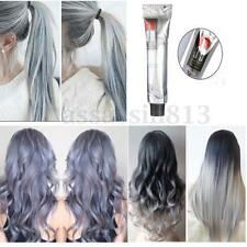 Unisex Fashion Grannyhair Permanent Punk Hair Dye Light Gray Color Cream 100ml