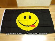 Fahnen Flagge Smiley Zunge - 90 x 150 cm