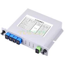 SC/UPC 1*4 1x4 1 to 4 Module Singlemode Fiber Optical PLC Splitter