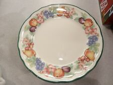 "SET OF 4 VINTAGE EPOCH ""MARKET DAY""  SALAD PLATES   E801"