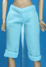 Light Soft Baby Blue Soft Capri  Pants Shorts  for Fashionista Barbie