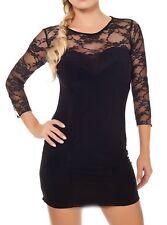 Scharf! SeXy Miss Spitze Mini Kleid Party Dress Freesize 34/36/38 NEU schwarz