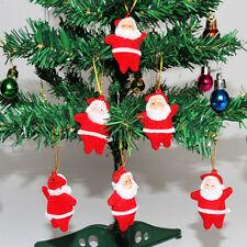 6Pcs/Set Mini Red Christmas Santa Claus Ornaments Xmas Tree Hanging Decorations