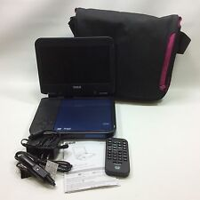 "RCA Portable DVD Player 8"" Screen DRC6338 Package Blue Black Belkin Travel Case"