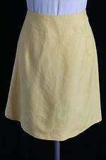 Alex Marie womens M 6 petite sunshine yellow linen blend A line skirt work