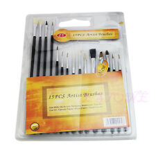 15Pcs 1-15# Pen-holder Gouache Watercolor Pen With Wool & Pig Bristles Brushes