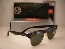 Ray Ban Oversize Clubmaster Matte Black w Green Crystal (G-15) Lens (RB4175 877)