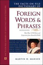 The Facts On File Dictionary of Foreign Words and Phrases (Writers Reference)