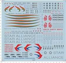 1/200 dragonair tibet airline china eastern star Mdoel Kit Water Slide Decal
