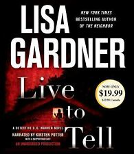 LIVE TO TELL BY LIST GARDNER - GREAT AUDIO BOOK WITH FREE SHIPPING