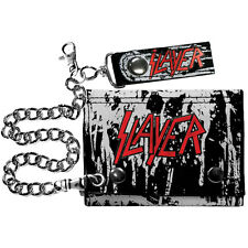 Slayer Men's Black Eagle Wallet Tri-Fold Wallet Black Rockabilia