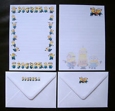 The Minions Despicable Me Letter Writing Paper Stationery Set - New Design