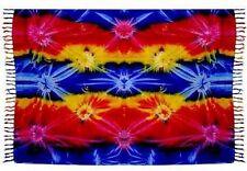 """Rainbow Tie Dye Sarong/Altar Cloth 62"""" x 45"""""""
