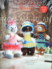 ALAN DART Knitting Pattern FELINE FLAPPERS 19cm Soft Toys & Clothes CATS KITTENS