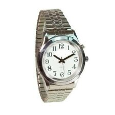 Ladies Deluxe Talking Watch Silver Tone Great for Low Vision or Blind #1468