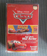 Disney's Cars Self Removable Stick Wall Border 5 yards 15 feet mint in package
