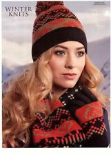 Set of Pia Rossini Frankie Womens Knit Hat and Scarf ( 2 items ) - Navy/Orange