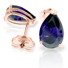 3 Carat 14K Solid Rose Gold Allure Sapphire Stud Earrings