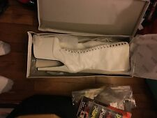 sexy jante knee high high heel boots white pat pu size 9 stripper dancer