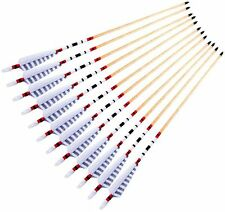 European Longbow Colour Archery 80cm Traditional Wooden Arrow Turkey Feather x12