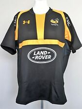 WASPS 2015/16 S/S HOME RUGBY JERSEY BY UNDER ARMOUR SIZE LADIES XXL NEW
