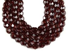 Garnet Round Faceted Glass Beads 50pcs/6mm