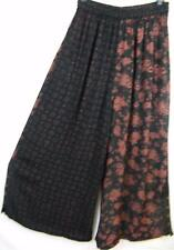 P235~TIENDA HO~BLACK~Nothing Matches~Button-up Palazzo Pants~Art to Wear~OS