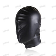 Quality PU Leather Gimp Full Covered Mask Hood Fetish Bondage Restraint