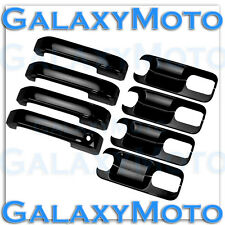 15-16 Ford F150 Gloss Black 4 Door handle+Back Plate Lever Cover 2015-2016 Truck