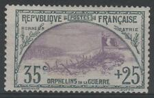 """FRANCE STAMP TIMBRE N° 152 """" ORPHELINS 35c+25c TRANCHEE DRAPEAU """" NEUFxxTTB N064"""