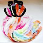 3 New Womens Tie Dye Fashion Scarf/Scarves/Lot-Light/Crinkle-Orange,Pink,Purple