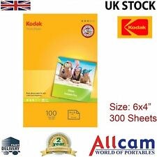 """3 Pack: Kodak Glossy Photo Paper 6x4"""" 180gsm for All Inket Printers (300 sheets)"""