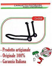 Derry Moto Cavalletto Posteriore Universale Fisso In Gomma DR058 - NUOVO