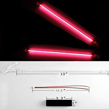 "2 X 12"" Car Auto Red Underbody Neon Kit Lights CCFL Cold Cathode Tube"