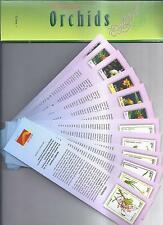 Bookmarks depicting stamps ORCHIDS  theme