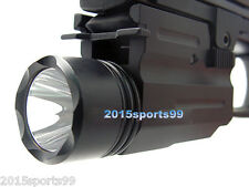 300Lm CREE Flashlight/light for 4 Pistol/Glock w/Quick Release Mount Weaver Rail